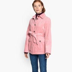 NEW Pink Belted Corduroy Jacket Coat M